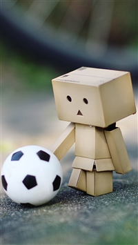 wallpaper iPhone Danbo Football 11