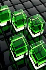 wallpaper iPhone Green Cubes