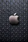 wallpaper iPhone Apple Steel Plate