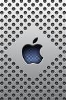 wallpaper iPhone Silver Dots Apple Logo 10